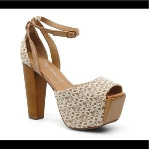 Jeffrey Campbell Perfect WD Lacy Platform Sandals